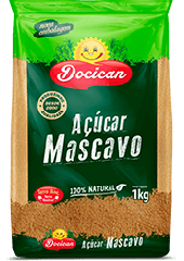Açúcar mascavo 100% natural - Docian 1kg